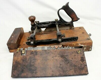 antique STANLEY RULER & LEVEL CO. Woodworking PLANE combination tool vintage
