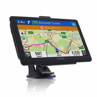 SAT NAV with 7 inch Pre-Installed 2019 Europe UK Ireland Maps FREE Lifetime Map