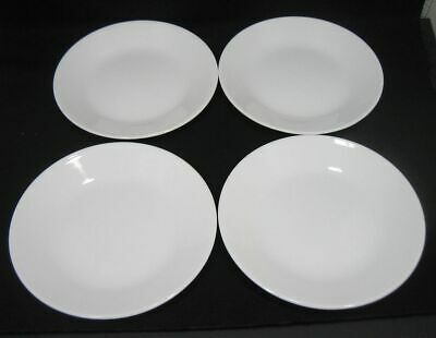 Lot/4 Corelle by Corning WINTER FROST WHITE Bread & Butter Plates