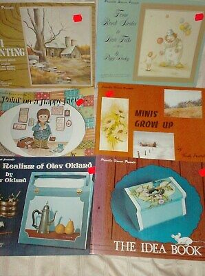 6 Vintage Book Lot of Tole Painting by Priscilla Hauser VGC Mini-From Brush +++