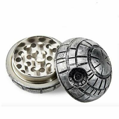 "Death Star Herb Spice Grinder Aluminum 3 Piece 40mm (1.5"")"