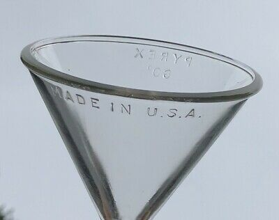 Vintage Pyrex Glass Funnel 60 Degree Made in USA