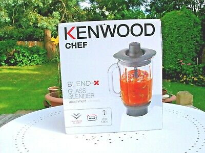 New Kenwood KAH358GL Thermo-resist Clear Glass Blender Attachment -1.6L Capacity