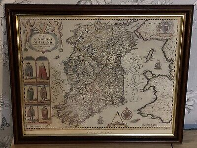 Reproduction Antique Map Kingdom of Ireland 16 x 20 inches.joan Bleau