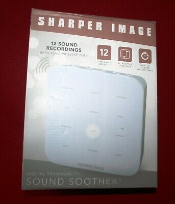 Sharper Image Digital Tranquility SOUND SOOTHER White Noise Machine Better Sleep