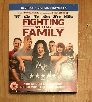 Fighting With My Family Blu Ray + Digital Download Genuine Uk Awesome New Sealed