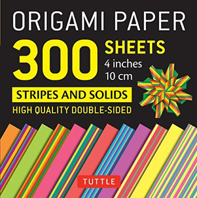 Origami Paper - Stripes & Solids (Us Import) New