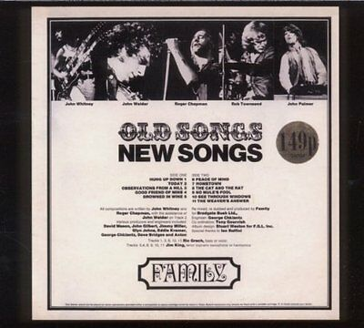 FAMILY OLD SONGS NEW SONGS UK PROG/PSYCH LP 1st Press FINAL