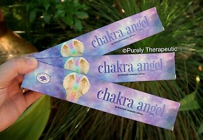 CHAKRA ANGEL MASALA INCENSE STICKS~Green Tree 15gms x3 Wicca Smudge Pagan Ritual