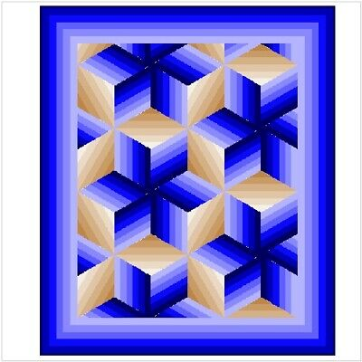 """PHENOMENA - 83"""" x 64"""" - Pre-cut Patchwork Quilt Kit by Quilt-Addicts Single"""