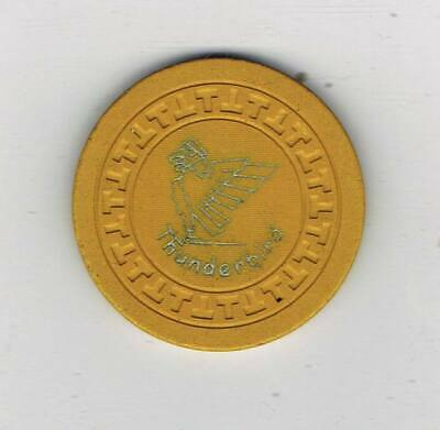 Vintage Thunderbird Illegal Casino Chip - Cape Girardeau llinois - T Mold 1955