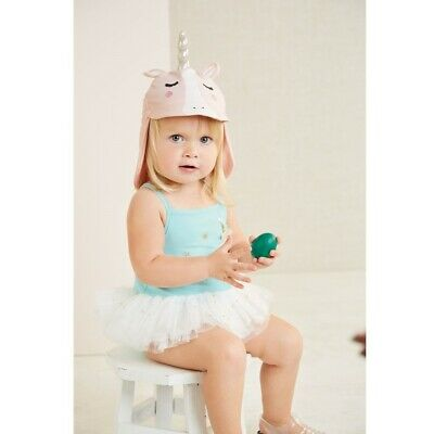 Mud Pie E9 Summer Baby Girl Flamingo Swim Hat Choose Size 16010046