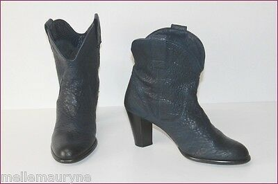 Pastelle Boots Booties Leather Carioca Midnight Blue T 40 Be