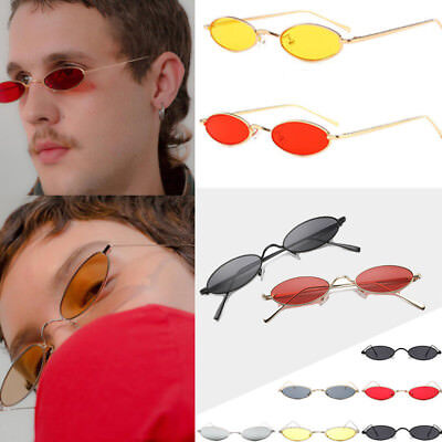 New Vintage Small Oval Frame Sunglasses Women's Fashion Shades Trendy Glasses