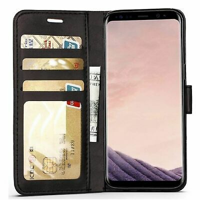 For Samsung Galaxy S6 S7 S8 S9 S10 edge Plus Case Magnetic Flip Leather Wallet