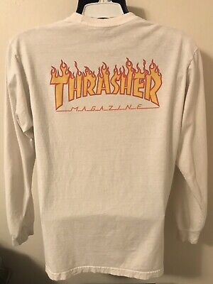 d955bb3b062b Vans x Thrasher Magazine Checker Off The Wall Long Sleeve Mens M Shirt
