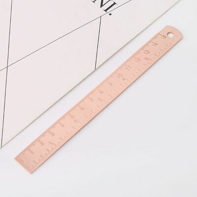 Brass Ruler Bookmark Rose Gold Straight Measuring Ruler Vintage Office Supplies