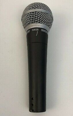 Shure SM58 Dynamic Wired XLR Professional Microphone Pre-own GC 16ft Mic Cable