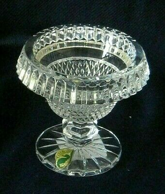 WATERFORD Crystal  HERITAGE COLLECTION~ Miniature FOOTED TURNOVER BOWL