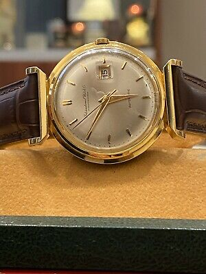 Fine & Rare IWC 18K Gold Automatic Hooded Lugs cal 8531 Vintage Gents' Watch