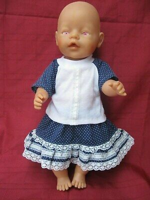 """BABY BORN ZAPF CREATIONS  41cm (16"""") DOLL WITH MAUVE/PINK  EYES - DRESSED"""