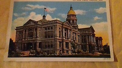 Vintage colour USA picture postcard. State Capital. Wyoming. Unposted.