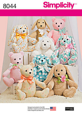 Simplicity Sewing Pattern 8938 OS Soft Toy