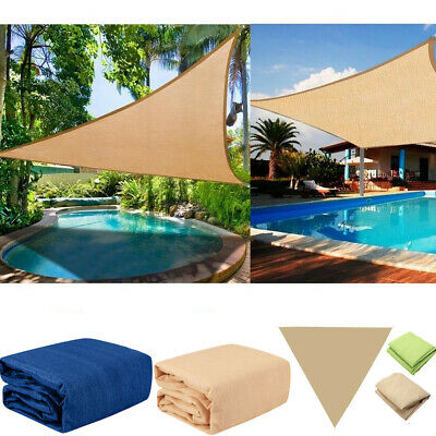 Sun Shade Sail UV Block Canopy Patio Lawn Pool Awning Top Cover Outdoor 4.9m 4m