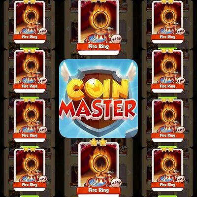 Coin Master Cards 10x Fire Rings **Fastest Delivery**