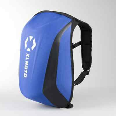 XLMOTO Slipstream Water Resistant MC Backpack 24L Motorbike Hard Shell Blue