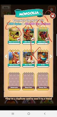Coin master rare cards message for more info