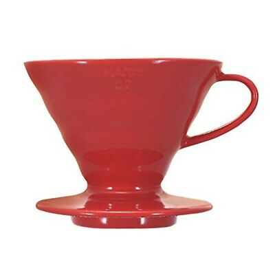 Hario V60 Ceramic Coffee Dripper Size 02 1~4 Cups Red VDC-02R