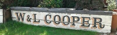Antique very large genuine shop  advertising  sign , hand painted on wood 8.8 ft