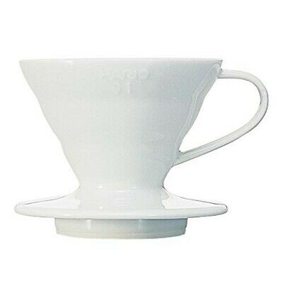 Hario V60 Ceramic Coffee Dripper Size 01 1~2 Cups White VDC-01W