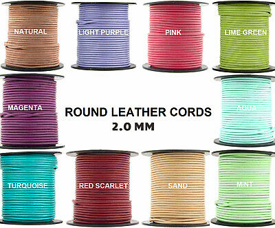 Xsotica® Regular Shades Round Leather Cord 2.0mm