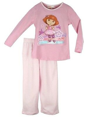 Official Dora The Explorer Girls Childrens Pyjamas Age 8