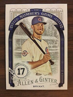 Kris Bryant ROOKIE 2016 Allen Ginter Numbers Game Insert RC