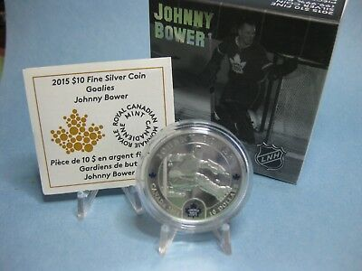 2015 $10 Fine Silver Coin - Goalies: Johnny Bower