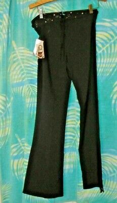 XOXO  Black Womens Size 9 Skinny Dress Pants pleat Stretch career NWT