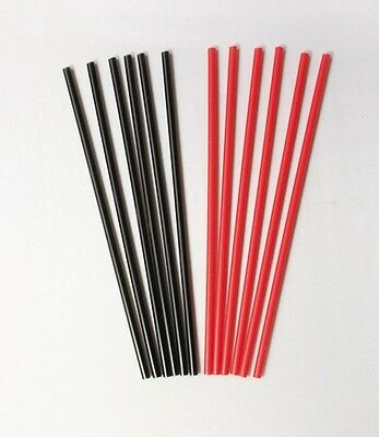 "1000 Count Cocktail/Coffee Stirrers - 5.25"" Black or Red"