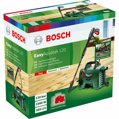 Bosch EasyAquatak 120 High Pressure Washer Car Bike Patio Garden Home Cleaner