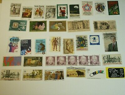 Lot O:  36  Used U.S. STAMPS Off Paper