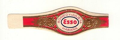 "OLD CIGAR BAND ""ESSO PUBLICITY"" of ""ROMEO Y JULIETA""   ADVERTISING"
