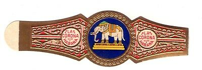 "OLD CIGAR BAND ""ELEFANTE // ELEPHANT"" of ""LA CORONA""   FAUNA"