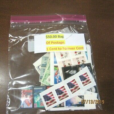 $50 Face Value Mint Postage * Discounted + $ Bonus * 1 Cent To Forever Cent * H