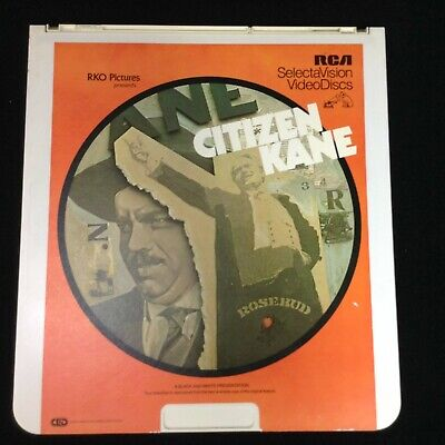 Citizen Kane CED Laser Disc VideoDisc SelectaVision Excellent Condition 1981