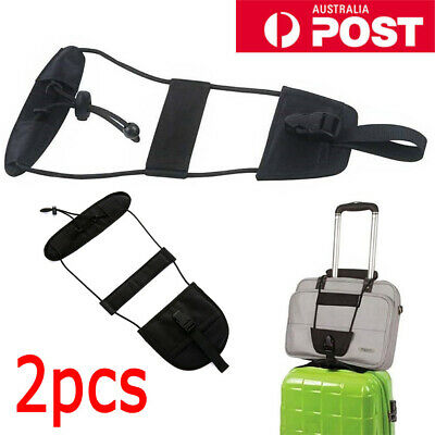 NEW 2X Bag Strap Luggage Adjustable Belt Carry On Bungee for Travel Suitcase AU