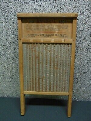 Vintage National Washboard Co. No. 1801 The Brass King Washboard Advertising
