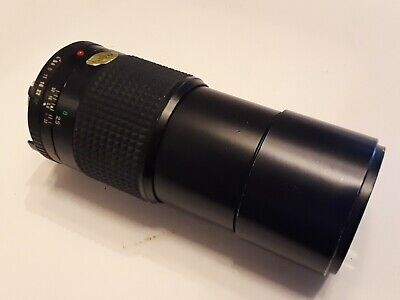 MINOLTA MD TELE ROKKOR-X 200mm 1:4 Lens  As is Small scratches on lens