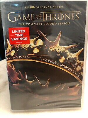 Game of Thrones: The Complete Second Season (DVD, 2017,) Wrap Damaged